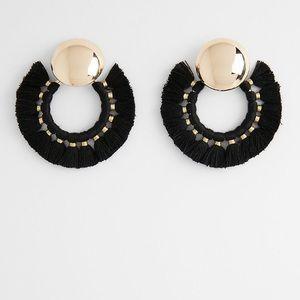 Tassel Hoop Earrings - Express Brand